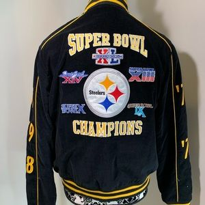 Pittsburgh Steelers Super Bowl Jacket Women Sz L